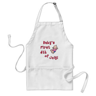 Baby's First Fourth of July Products Adult Apron