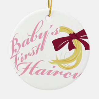 Babys First Haircut Christmas Ornament