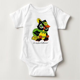 Baby's First Halloween. Funny Owl Baby Bodysuits