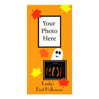 Baby's First Halloween Photo Card