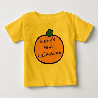 Baby's First Halloween Punkin - yellow Baby T-Shirt