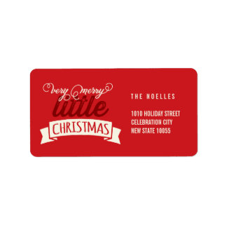 Baby's First Merry Little Christmas Greeting Address Label