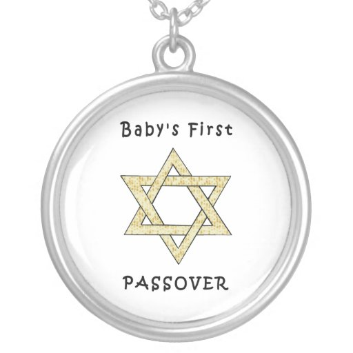 Baby's First Passover Custom Necklace