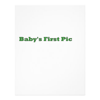Baby's First Picture The MUSEUM Zazzle Gifts Flyer