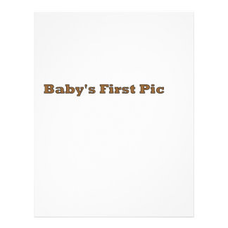 Baby's First Picture The MUSEUM Zazzle Gifts Flyer Design