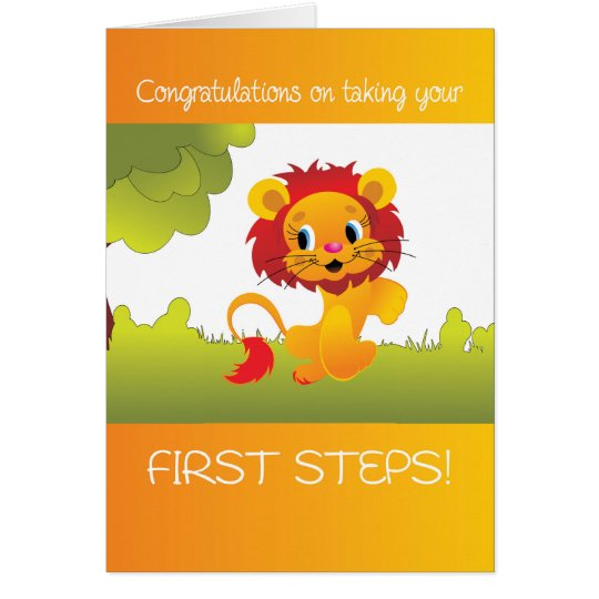 Baby's First Steps, Congratulations on Walking, Cu Card