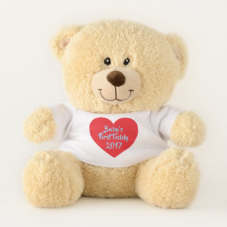 Baby's First Teddy on Red Heart Teddy Bear