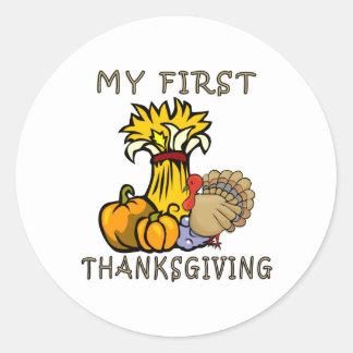 Baby's First Thanksgiving Sticker