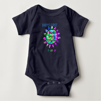 Baby's First Total Solar Eclipse Color Tie Dye Baby Bodysuit