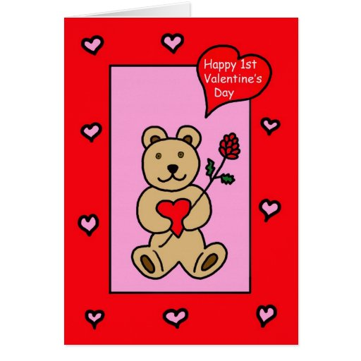 Baby's First Valentine -- Teddy Bear Valentine Card