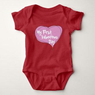 Baby's First Valentines Day Baby Bodysuit