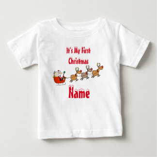 Baby's First Xmas Keepsake Gift add name tee