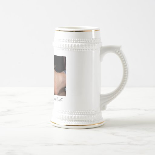 Baby's foot on Daddy's foot Coffee Mugs