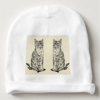 Baby's Hat Two Cats Sarr Baby Beanie