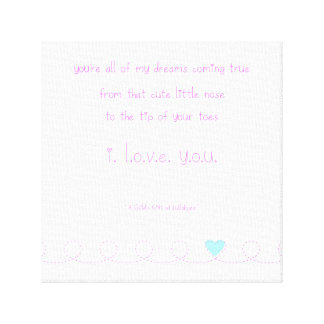 Baby's Lullaby Canvas Print