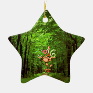 Baby's : my first new year - ceramic star decoration
