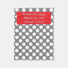Baby's Personalised Polka Dots Fleece Blanket