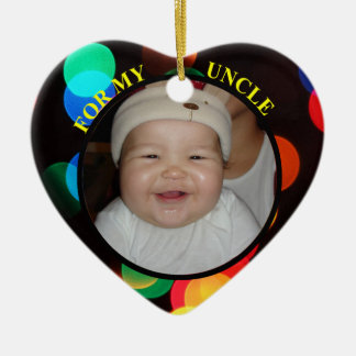 Baby's Photo Gift Tag Ornament For Favorite Uncle