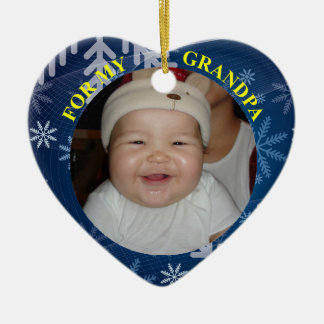 Babys Photo Gift Tag & Ornament For Gandpa