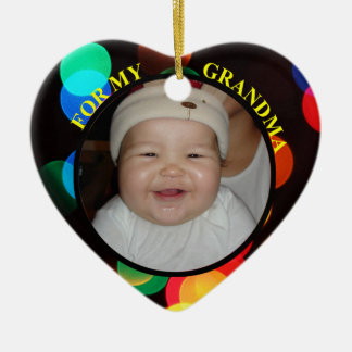 Baby's Photo Gift Tag Ornament For Grandma