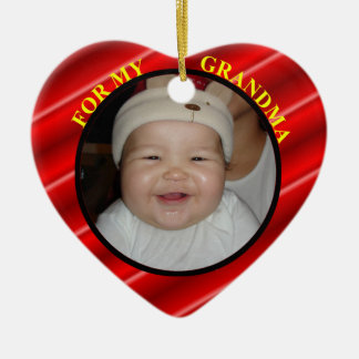 Baby's Photo Gift Tag & Ornament For Grandma