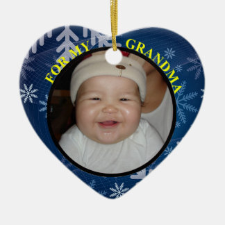 Baby's Photo Gift Tag & Ornament For Grandmother