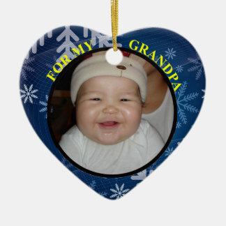 Baby's Photo Gift Tag & Ornament for Grandpa