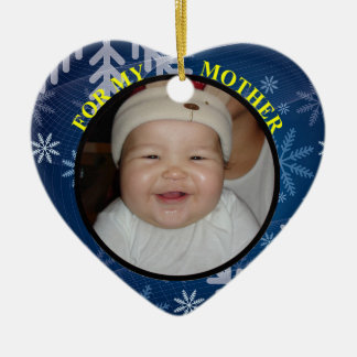 Baby's Photo Gift Tag Ornament For Mom
