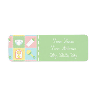 Baby's Quilt Return Address Label