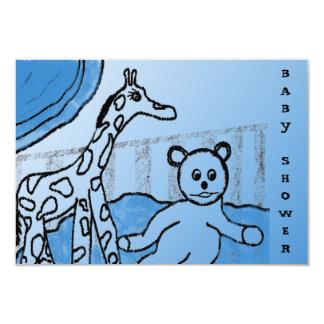 Baby's Room Blue Custom Baby Shower Invitation