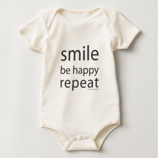 Babys Smile, Be Happy, Repeat Outfit Baby Bodysuit