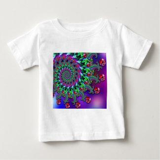 Babys T-Shirt - Bokeh Fractal Purple Terquoise