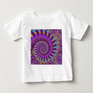 Babys T-Shirt - Crazy Fractal Purple terquoise