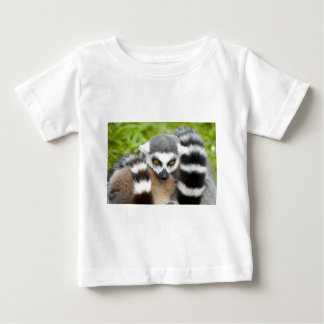 Babys T-Shirt - Cute Lemur Stripey Tail