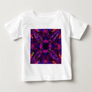 Babys T-Shirt - Fractal Pattern Purple Blue Pink