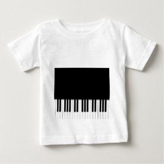 Babys T-Shirt - Piano Keyboard black white