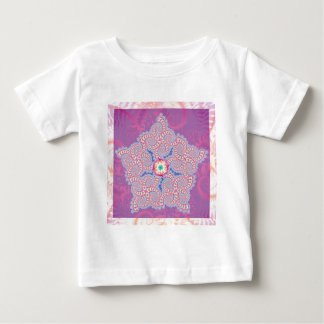 Babys T-Shirt - Purple Star Fractal Pattern