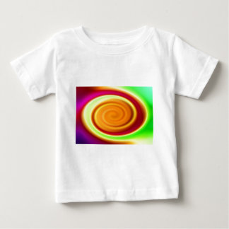 Babys T-Shirt - Rainbow Swirl Abstract Pattern