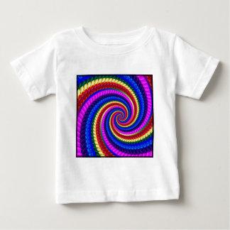 Babys T-Shirt- Rainbow Swirl Fractal Pattern Baby T-Shirt