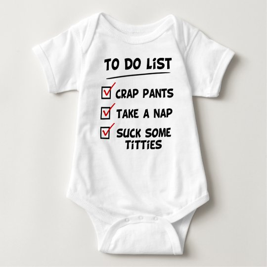 Baby's to do list baby bodysuit