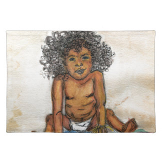 Baby's Up To No Good- Original Print Placemat