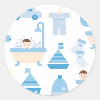 BabyShower2 Round Sticker