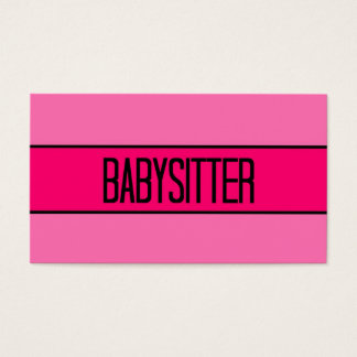Babysitter Baby and Hot Pink Business Card