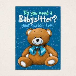 Babysitter Babysitting DayCare ChildCare Blue