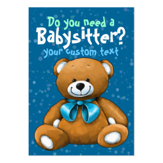 Babysitter Babysitting DayCare ChildCare Blue Pack Of Chubby Business Cards