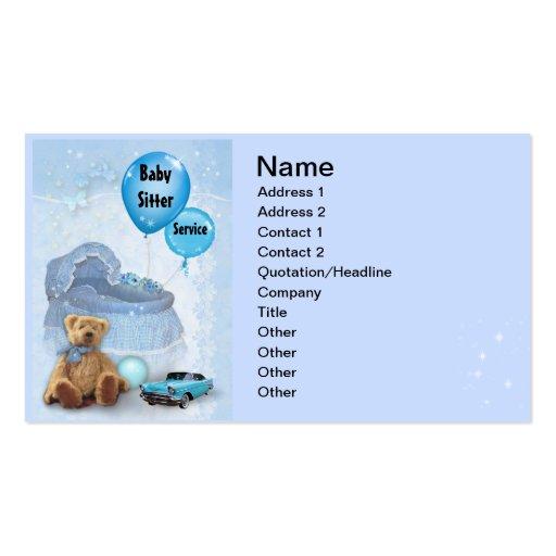 Babysitter Business Card Templates