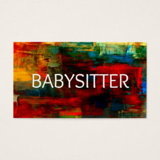 Babysitter Colorful Business Card