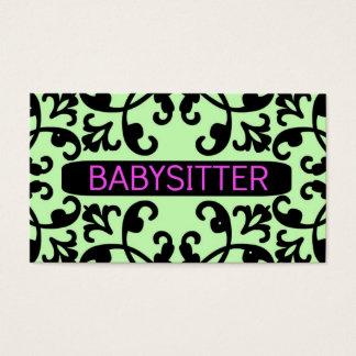 Babysitter Damask Business Card