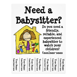 how to make babysitting flyers