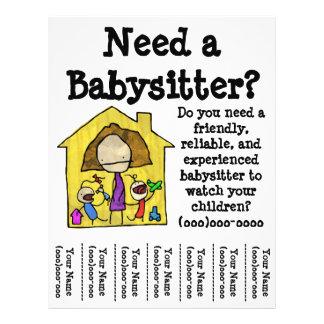 babysitter flyers leaflets. Black Bedroom Furniture Sets. Home Design Ideas